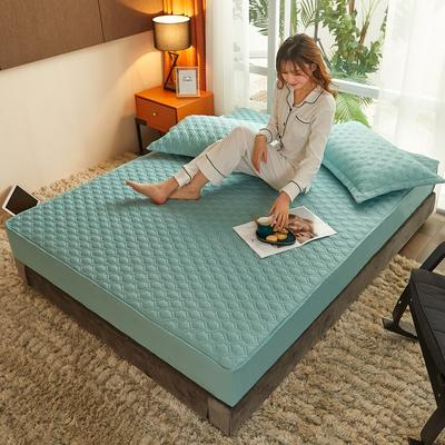 (总)丽芙2021新款工艺款夹棉床笠—浅色背景 150cmx200cm 薄荷绿