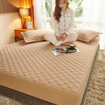 (总)丽芙2021新款工艺款夹棉床笠—浅色背景 150cmx200cm 魅力驼