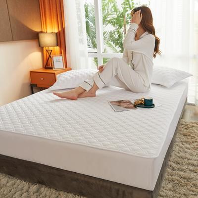 (总)丽芙2021新款工艺款夹棉床笠—浅色背景 150cmx200cm 云朵白