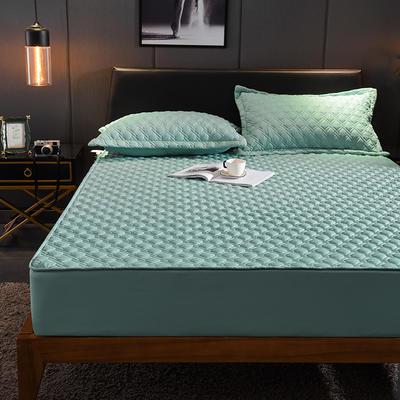 (总)丽芙2021新款工艺款夹棉床笠—深色背景 150cmx200cm 薄荷绿