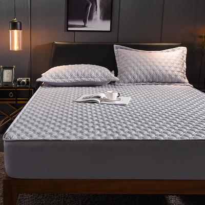 (总)丽芙2021新款工艺款夹棉床笠—深色背景 150cmx200cm 绅士灰