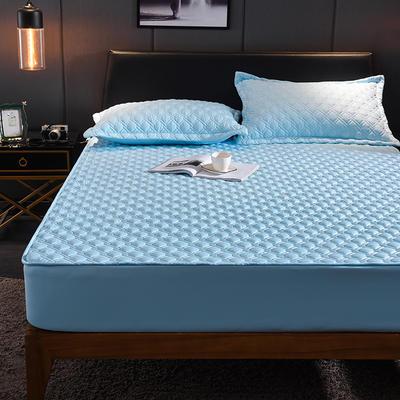 (总)丽芙2021新款工艺款夹棉床笠—深色背景 150cmx200cm 天真蓝