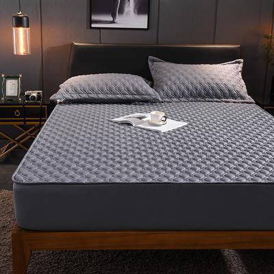 (总)丽芙2021新款工艺款夹棉床笠—深色背景 150cmx200cm 烟熏灰