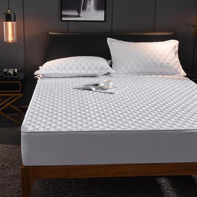 (总)丽芙2021新款工艺款夹棉床笠—深色背景 150cmx200cm 云朵白