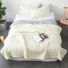 新款水洗棉夏被 1.5m 床 米黄(夏被)