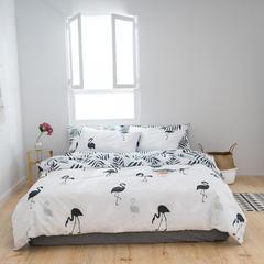 2019新款全棉四件套 1.2m(4英尺)床三件套 素净生活