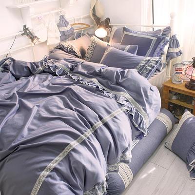 全棉四件套布利斯 1.5m(5英尺)床 布利斯藍