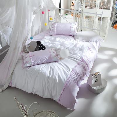 全棉四件套公主蝴蝶結 1.5m(5英尺)床 繪雅風情粉