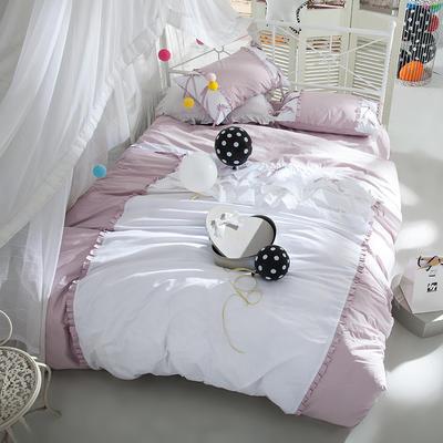 全棉四件套公主蝴蝶結 1.5m(5英尺)床 繪雅風情玉