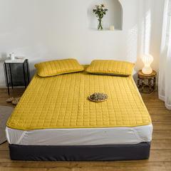 2019新款艾絨理療床墊-床單款 150*200 黃色床墊