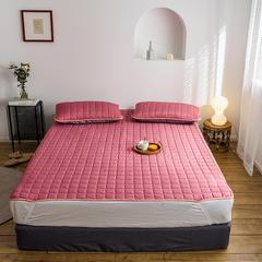2019新款艾絨理療床墊-床單款 150*200 玫紅床墊