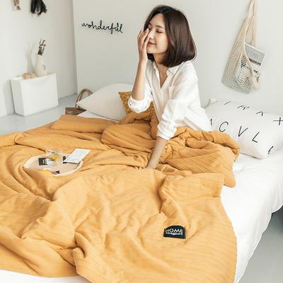 2019新款-全棉针织棉夏被 150x200cm 橄榄黄