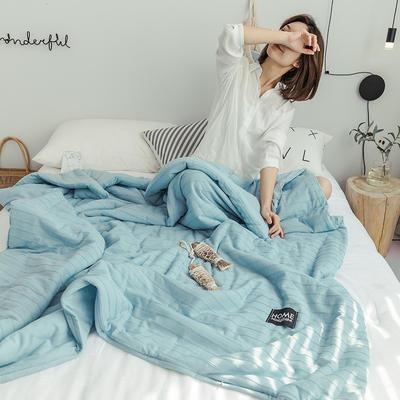 2019新款-全棉针织棉夏被 150x200cm 月光蓝