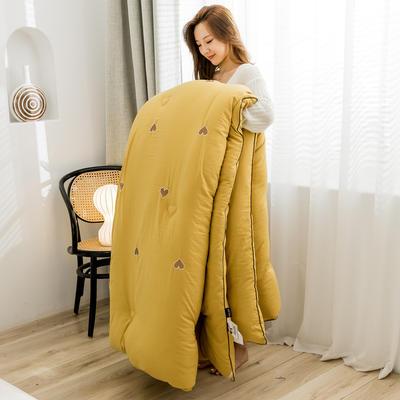 奥汀洛 满天心刺绣冬被 150x200cm5.5斤 满天心-姜黄