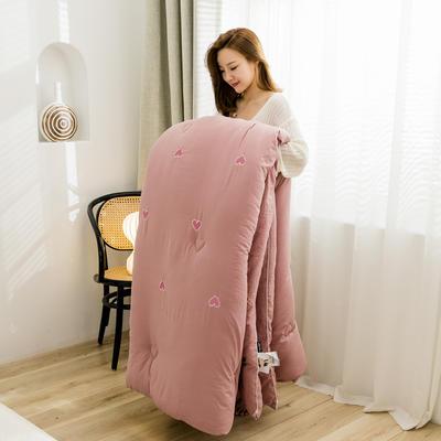 奧汀洛 滿天心刺繡冬被 150x200cm5.5斤 滿天心-藕粉
