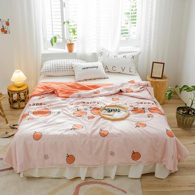 2020新款-水洗棉小花边夏被 180x200cm 小橘子