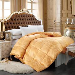 纯梦被业婚庆羽绒被色织大提花羽绒被--莫斯利安 黄 200X230cm  7斤 莫斯利安 黄