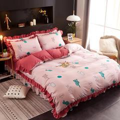 金典家纺针织棉无印韩版四件套 1.8m(6英尺)床 仙人掌