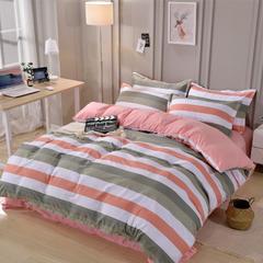 2018新款加厚针织棉四件套 1.5m(5英尺)床 时尚领域