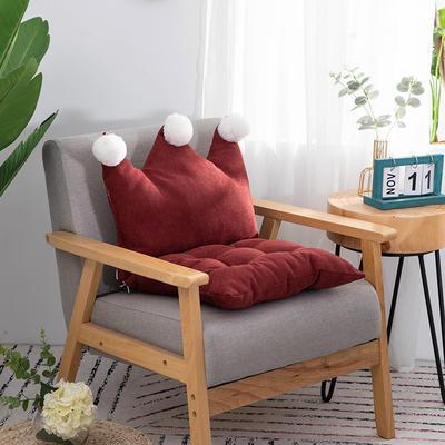 2019新款可愛學生椅子坐墊純色桌椅一體靠墊飄窗靠背沙發小靠背小抱枕 40*40*40 酒紅