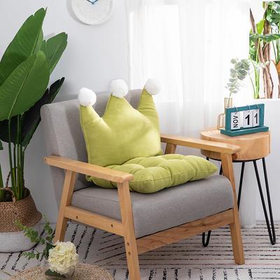 2019新款可愛學生椅子坐墊純色桌椅一體靠墊飄窗靠背沙發小靠背小抱枕 40*40*40 牛油果綠