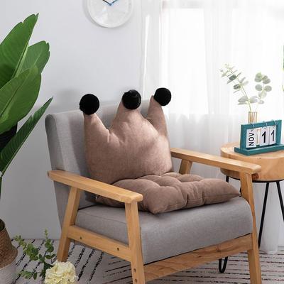 2019新款可愛學生椅子坐墊純色桌椅一體靠墊飄窗靠背沙發小靠背小抱枕 40*40*40 淺咖