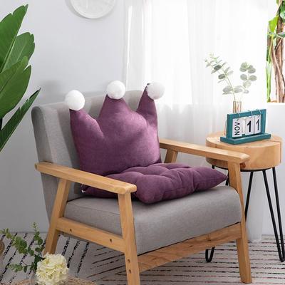 2019新款可愛學生椅子坐墊純色桌椅一體靠墊飄窗靠背沙發小靠背小抱枕 40*40*40 深紫