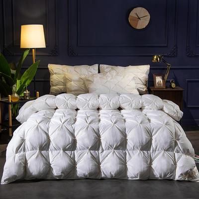 (总)2019冬被新品全棉扭花羽绒被 200X230cm(7.8斤) 白色