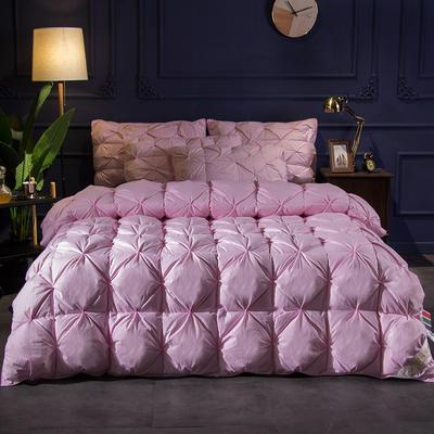 (总)2019冬被新品全棉扭花羽绒被 200X230cm(7.8斤) 粉色
