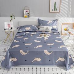 水洗冰丝凉席三件套 1.5m(5英尺)床 美妙海豚-灰