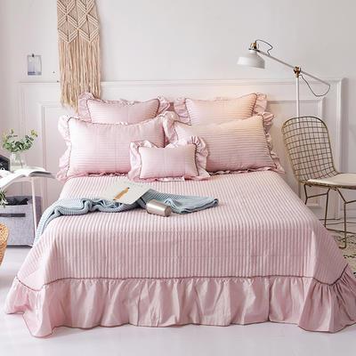 2018新款-全棉可水洗绗缝床盖三件套 245*250*1 浅豆沙