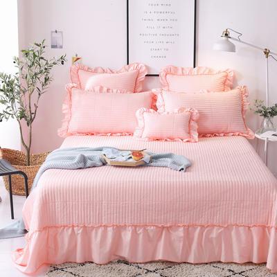 2018新款-全棉可水洗绗缝床盖三件套 245*250*1 玉色