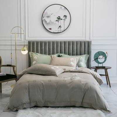 2020新款-清风徐来全棉四件套 床单款1.5m(5英尺)床 清风徐来(卡)