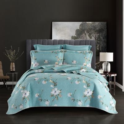 2019新款-双面全棉床盖三件套 230cmx250cm 花未眠