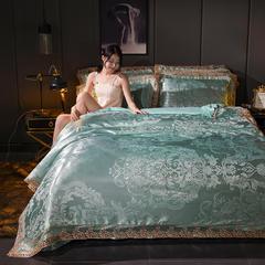 2018新款莫代尔提花四件套 1.5m(5英尺)床 安吉丽娜-冰蓝-1