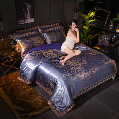 2018新款莫代尔提花四件套 1.2m(4英尺)床 璀璨年华-兰驼