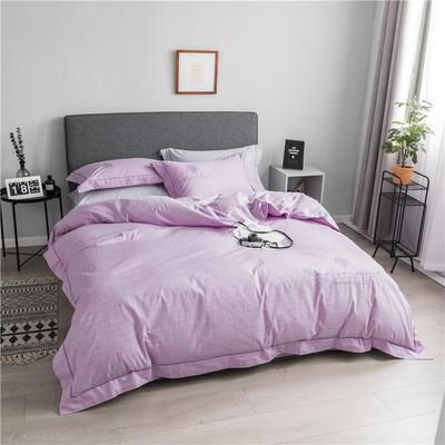 13372肌理纹全工艺喷气全棉四件套 标准 克洛蒂雅-浅紫