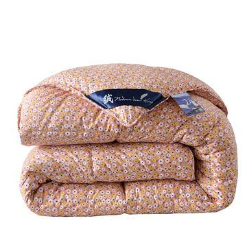 2018爆款羽绒被 冬被 春秋被欧式印花风格防雨布羽丝被 150*200cm(4斤) 爱莉丝