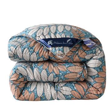 2018爆款羽绒被 冬被 春秋被欧式印花风格防雨布羽丝被 150*200cm(4斤) 安娜