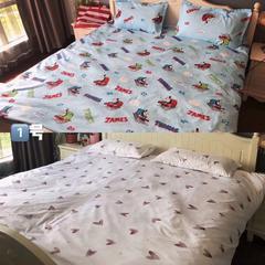 2018新款多喜爱七件套 1.5m(5英尺)床 白色爱心托马斯