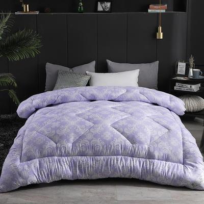 磨毛印花四季被冬被 200X230cm八斤 北欧风紫