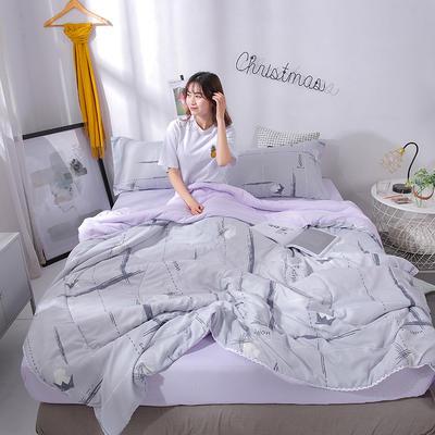 2019新款 棉线花边亲肤水洗棉夏被 夏被 110x150cm 新时尚