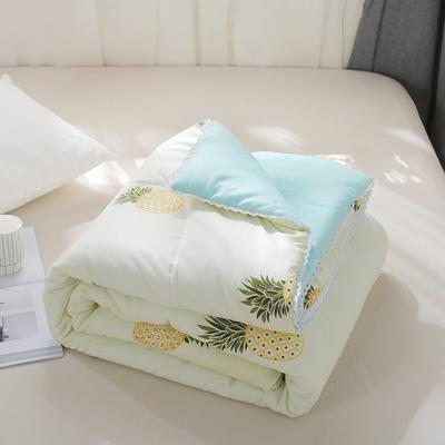 2019新款 棉线花边亲肤水洗棉夏被 枕套48x74cm/ 只 大菠萝-