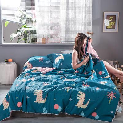 2020新款花边水洗棉夏被普通版图 150x200cm 恐龙园