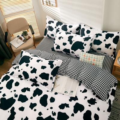 2020新款-芦荟棉四件套 1.5m(5英尺)床 奶牛