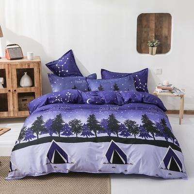 2021新款植物羊绒四件套 1.5m床单款四件套 浪漫之夜