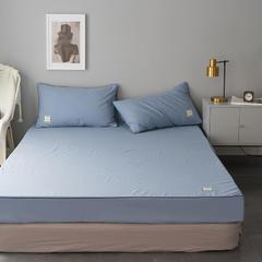 纯棉活性磨毛单品床笠纯色1.2/1.5/1.8/2.0可配枕套 150cmx200cm 宝石蓝