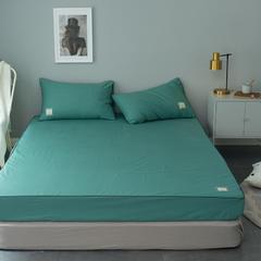 纯棉活性磨毛单品床笠纯色1.2/1.5/1.8/2.0可配枕套 120cmx200cm 橄榄绿