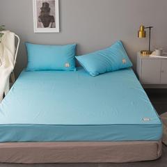 纯棉活性磨毛单品床笠纯色1.2/1.5/1.8/2.0可配枕套 120cmx200cm 天空蓝