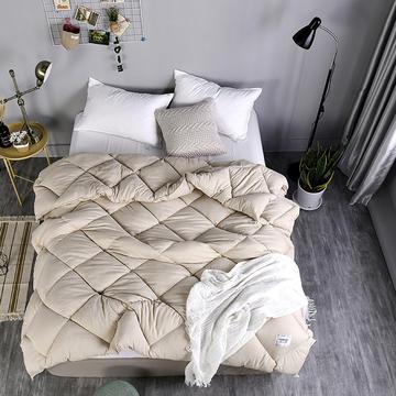 2018新款水洗棉冬被托斯卡纳 150x200cm(4斤) 卡其